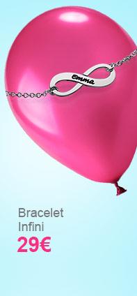 Bracelet Infini en Argent à Graver