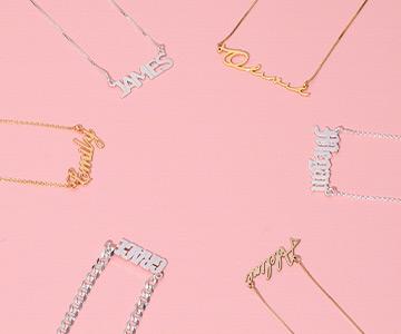 Découvrez votre collier prénom dans différents matériaux
