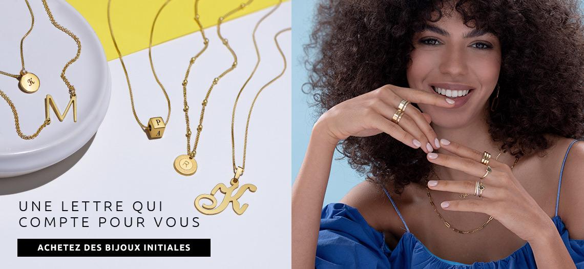 Bijoux et Colliers Initiale Personnalisés