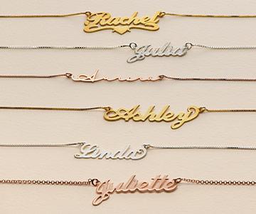 La tendance du collier prénom