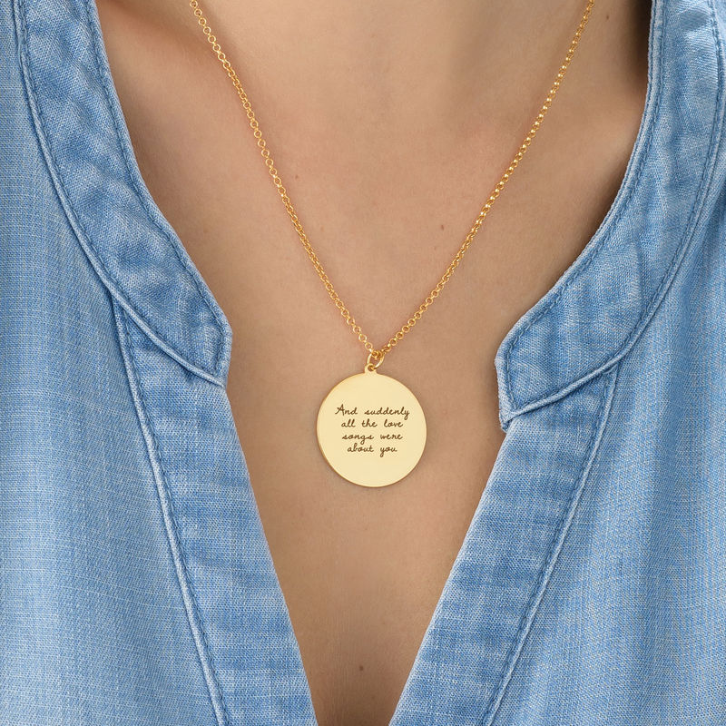 Handwritten Style Necklace in Gold Plating - 3