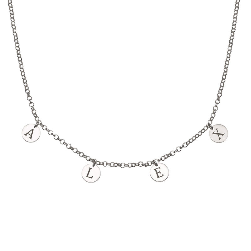 Initials Choker Necklace in Sterling Silver