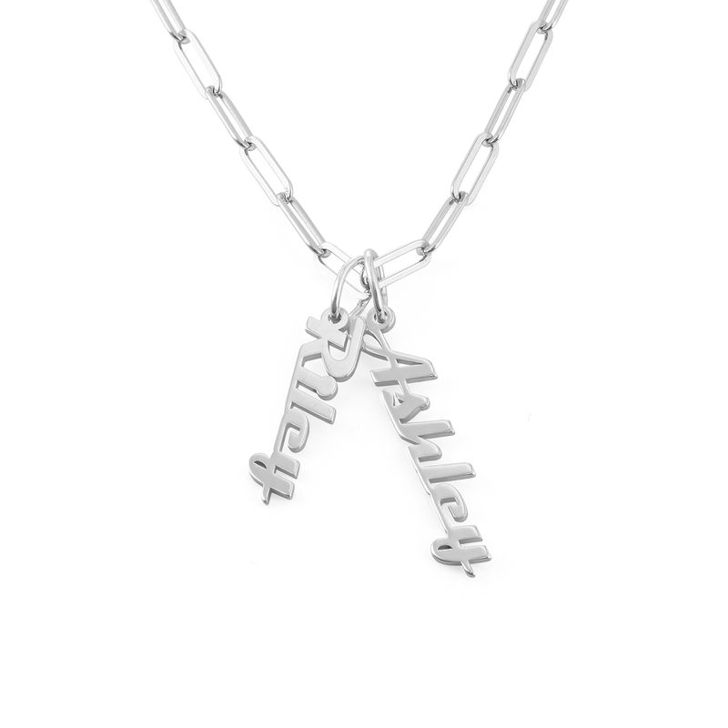 Chain Link Name Necklace in Sterling Silver - 1
