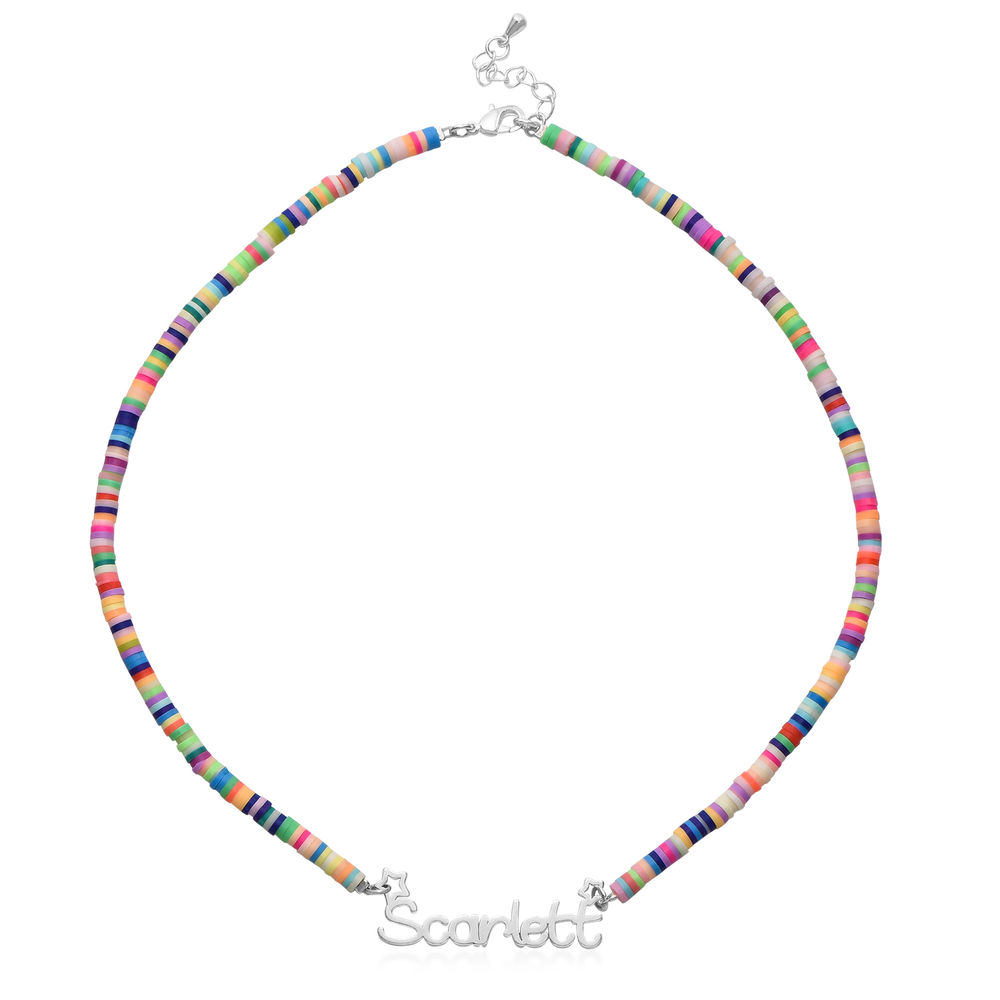 Rainbow Magic Girls Name Necklace in Sterling Silver - 1