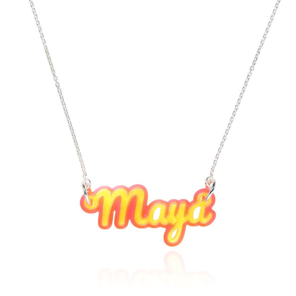 Retro Acrylic Name Necklace! - 3