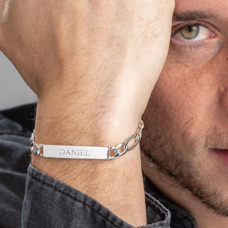 Sterling Silver Men's ID Name Bracelet - 5