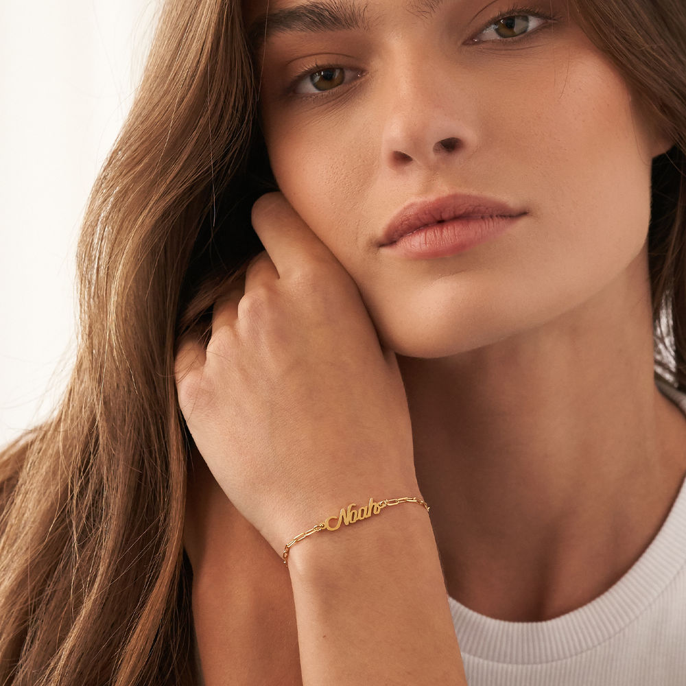 Costume Paperclip Name Bracelet/Anklet in Gold Plating - 2