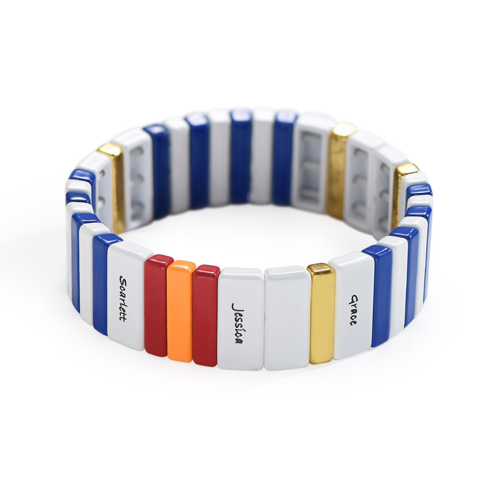 Rendezvous Tile Bead Bracelet with Names