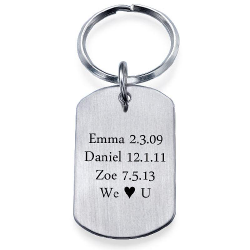Engraved Dog Tag Key Ring - 4