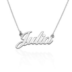 Small Personalised Classic Name Necklace in Silver product photo