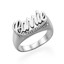 Sterling Silver Carrie Name Ring product photo