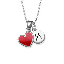 Red Heart Necklace for Kids product photo