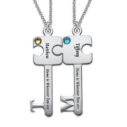 Personalised Puzzle Key Necklace Set product photo