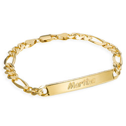 Women's ID Bracelet in 18ct Gold Plating product photo