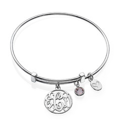 Cut Out Monogram Bangle with Charms product photo