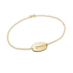 18ct Gold-Plated Silver Personalised Baby Bracelet product photo