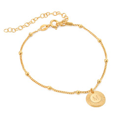Mini Rayos Initial Bracelet / Anklet in Vermeil product photo