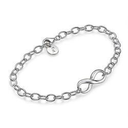 Sterling Silver Infinity Bracelet product photo