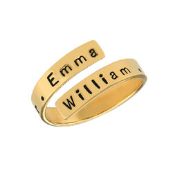 Engravable Ring Wrap in Gold Plating product photo
