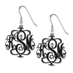 Monogrammed Earrings in Various Acrylic Colours product photo