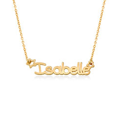 Girls Name Necklace in 18k Gold Plating product photo