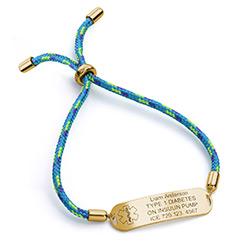 Medical ID Bracelet for Kids in 18K Gold Plating product photo