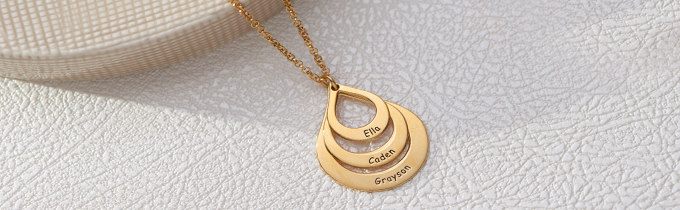 Gold Plated Name Necklaces
