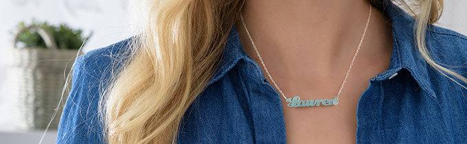 Acrylic monogram necklaces