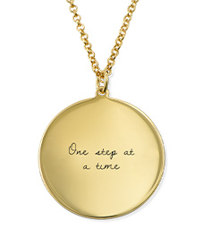Love Note Circle Necklace in Gold Plating