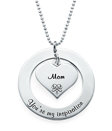 Grandmother / Mother Necklace in Sterling Silver