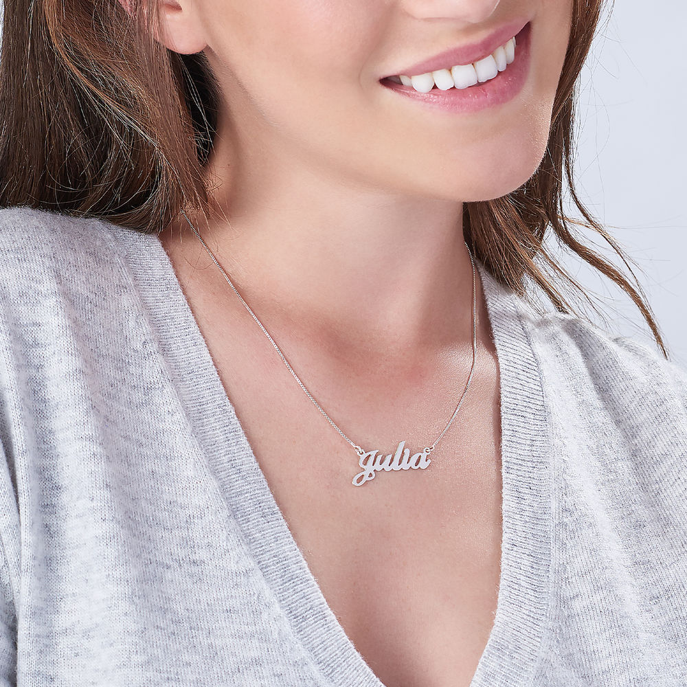 Personalized Classic Name Necklace in Sterling Silver - 1
