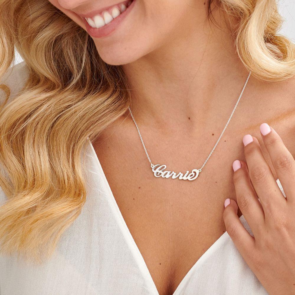 Sterling Silver Carrie Style Name Necklace - 1