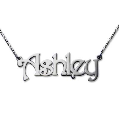 Sterling Silver Name Necklace with Box Chain