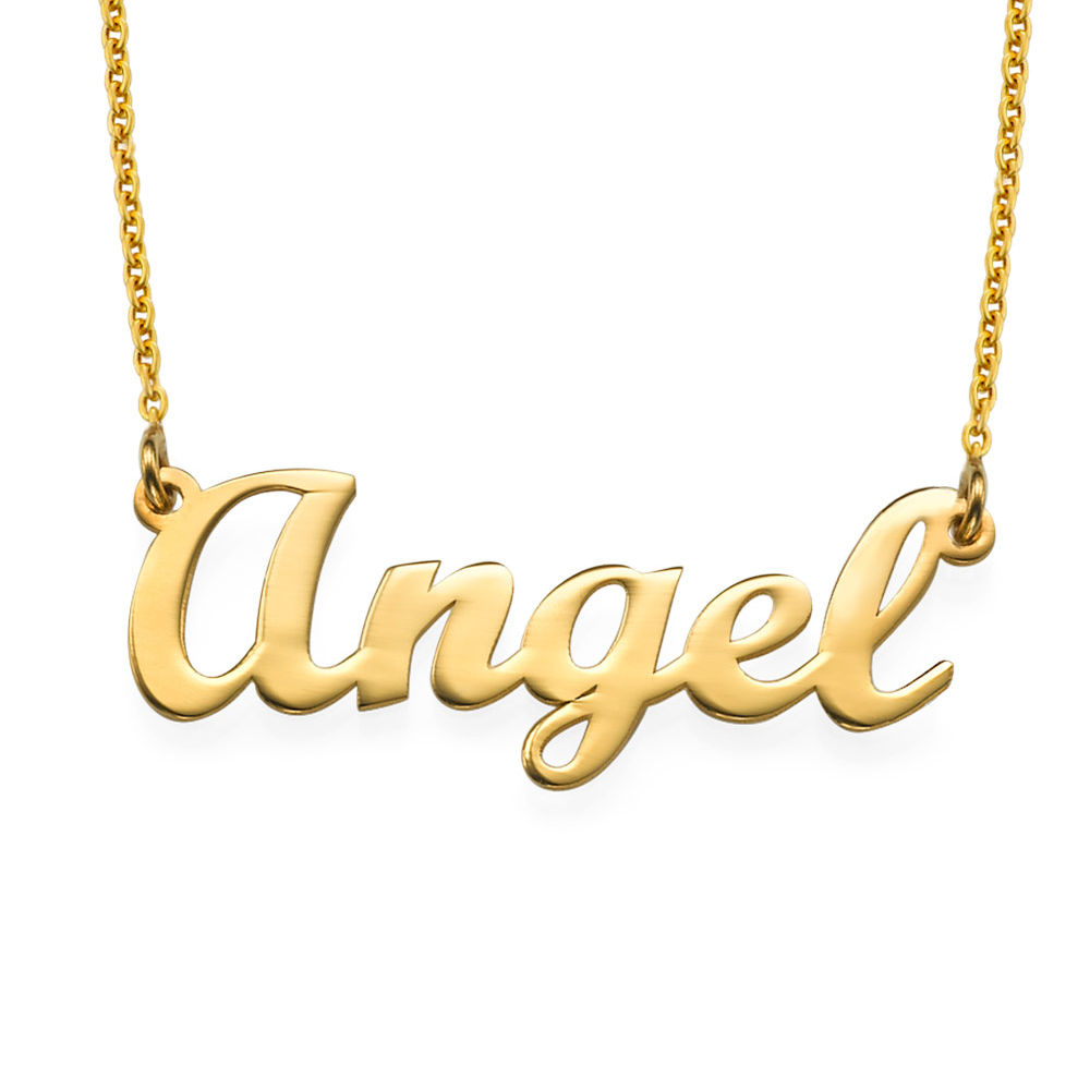 18k Gold Plated Script Name Necklace