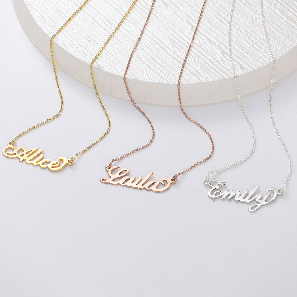 Small 18k Gold-Plated Silver Carrie Name Necklace - 2