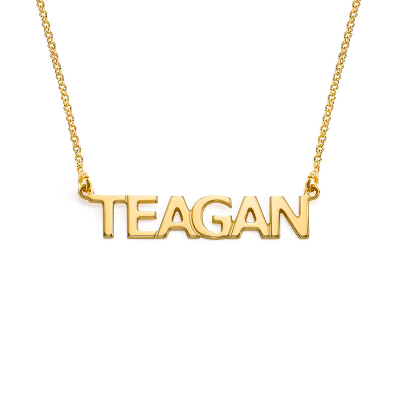 18k Gold Vermeil All Capitals Personalized Name Necklace