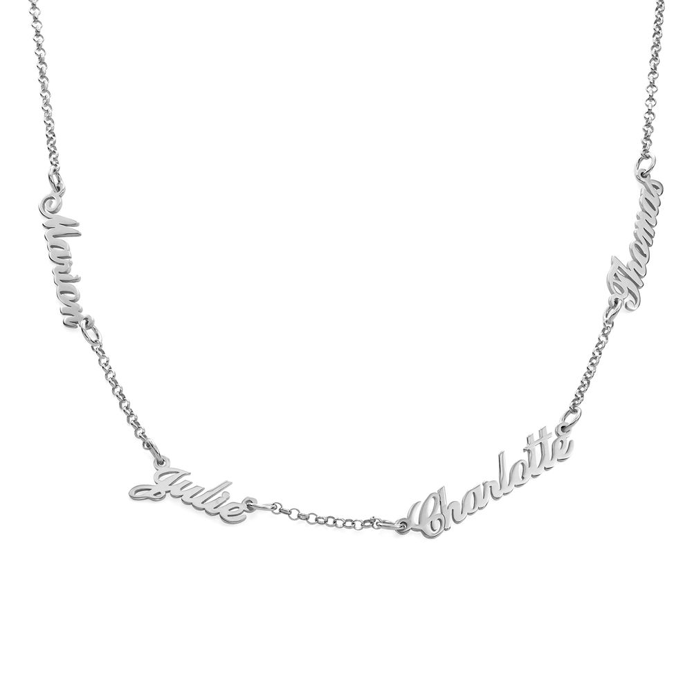 Multiple Name Necklace in Sterling Silver