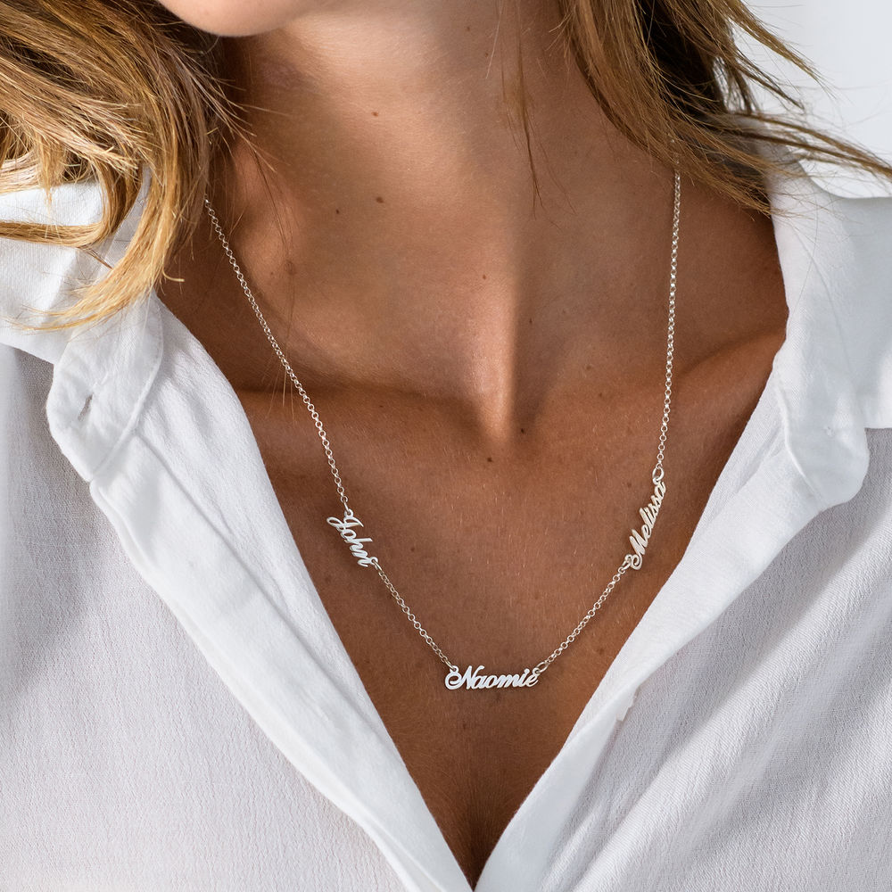 Multiple Name Necklace in Sterling Silver - 2