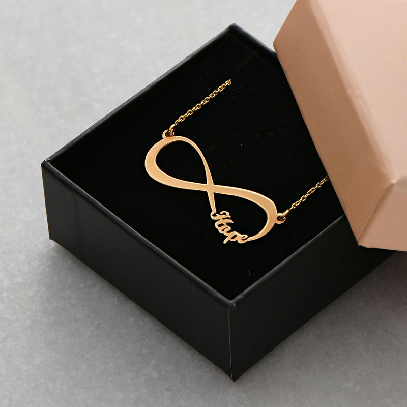Infinity Name Necklace in Gold Plating - 5