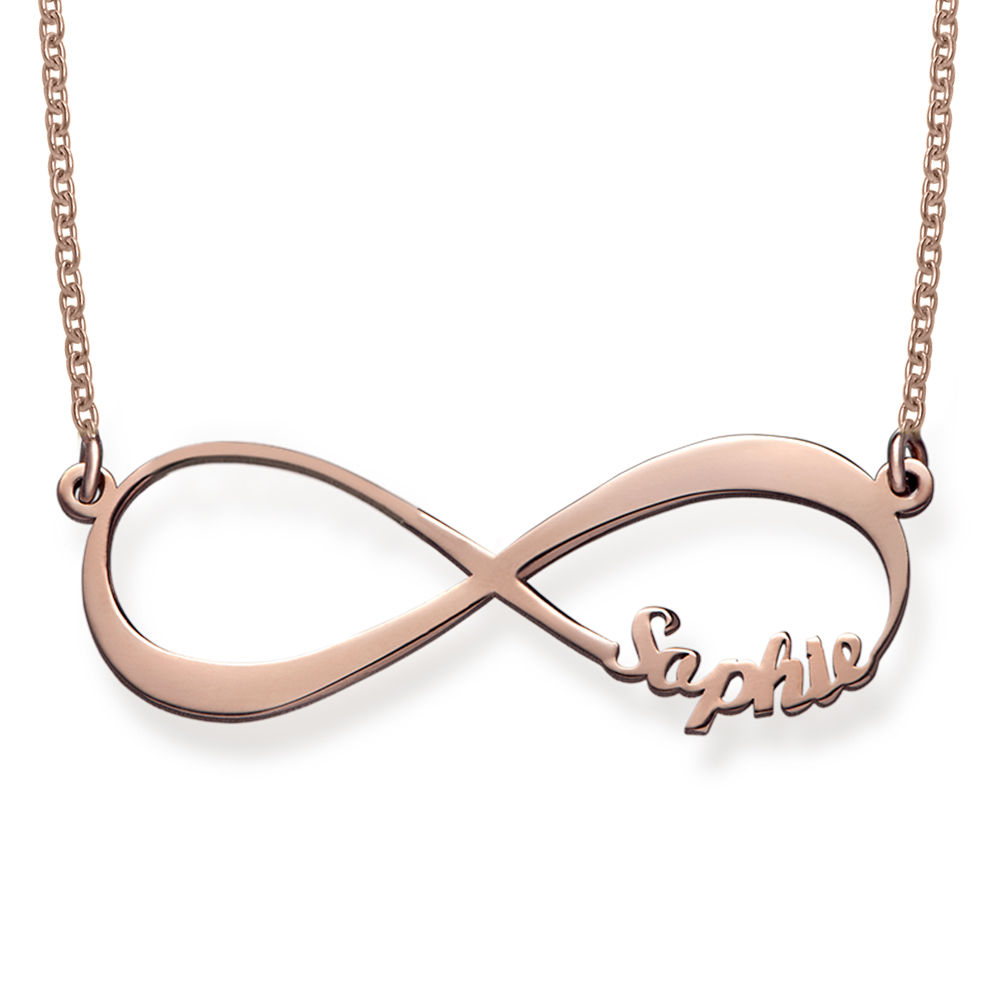 Infinity Name Necklace in Rose Gold Plating  - 1