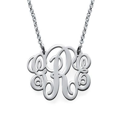 Fancy Sterling Silver Monogram Necklace