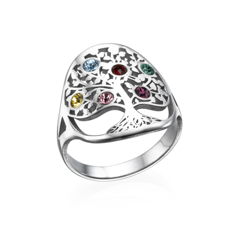 Family Tree Jewelry - Birthstone Ring - 1