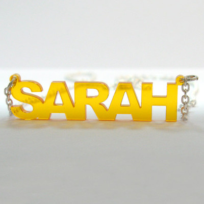 L.A. Style Color Name Necklace - 2