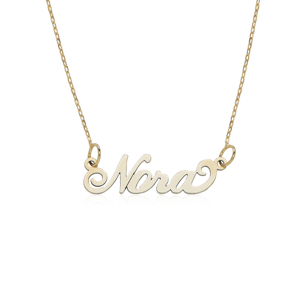 "Small 10K Yellow Gold ""Carrie"" Style Name Necklace"