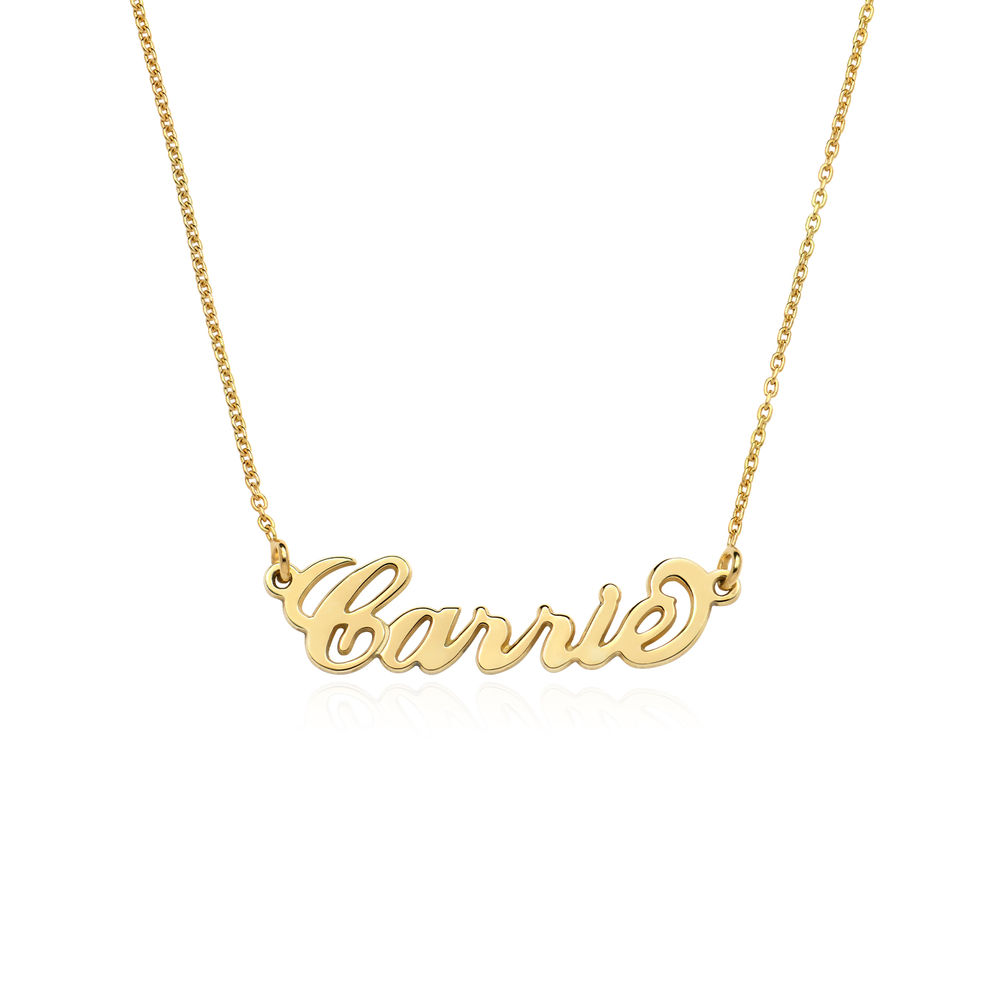 Small Vermeil Carrie Name Necklace