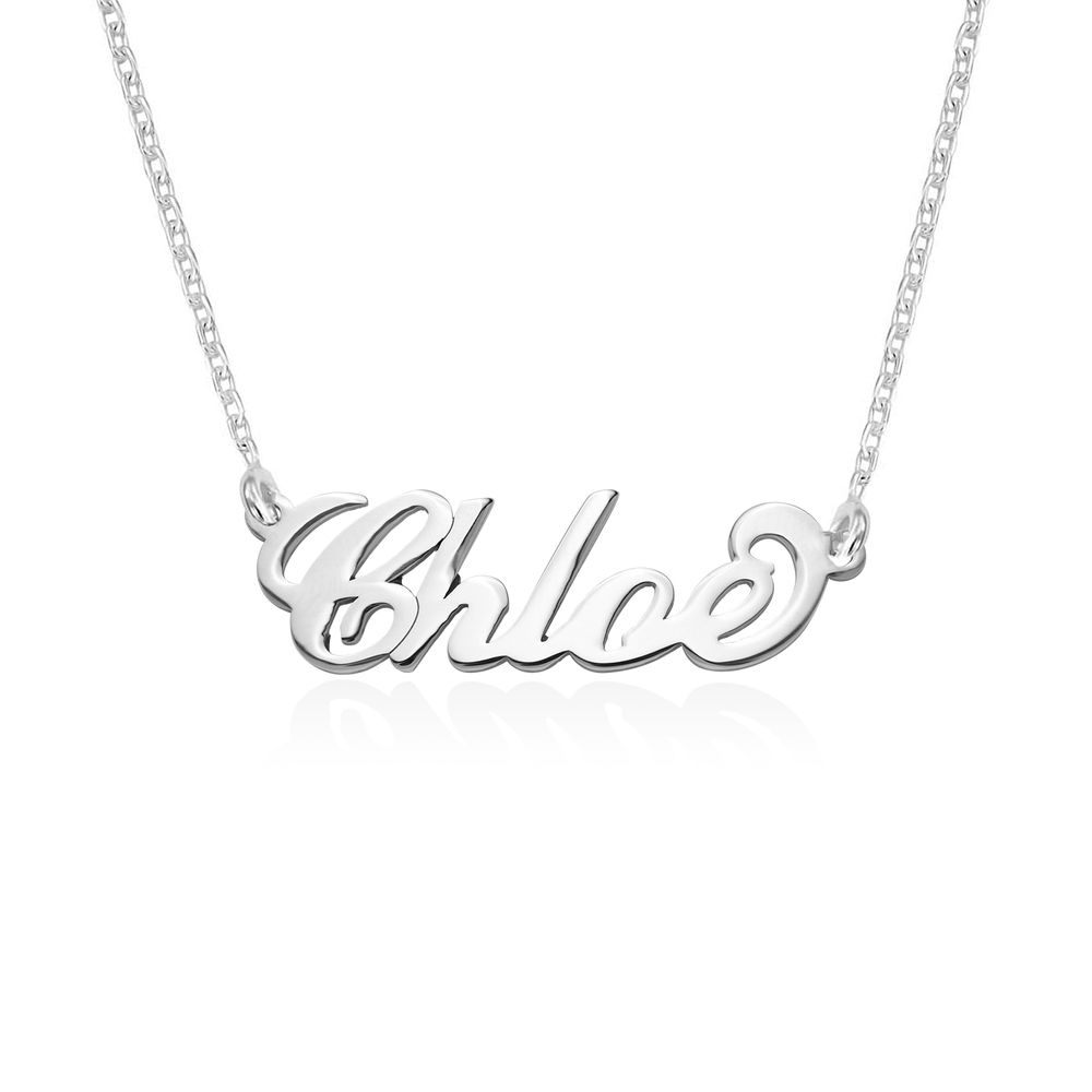 Small 940 Premium Silver Carrie Style Name Necklace