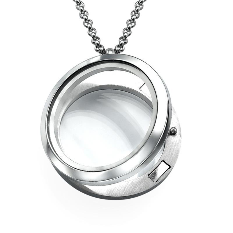 Silver Round Locket - 1
