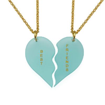 Acrylic Broken Heart Necklaces