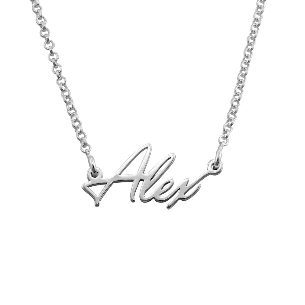 Tiny Silver Name Necklace
