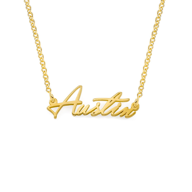 Tiny Name Necklace in 18k Gold Vermeil - Extra Strength